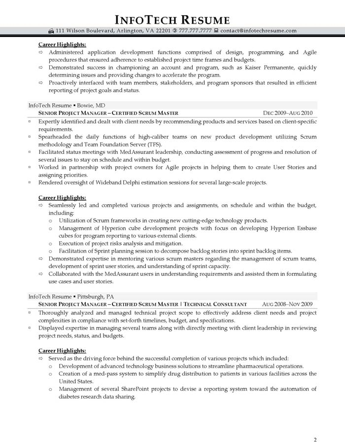 manager best resume sample scrum master cover letter example agile