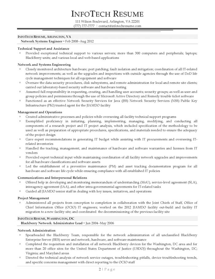 senior systems engineer system administrator - Sample Resume Of System Administrator